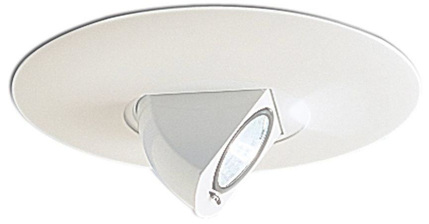 nora 6 white adjustable angle recessed light trim