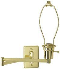 Brass Plug-In Swing Arm Wall Lamp Base - #79553 | Lamps Plus