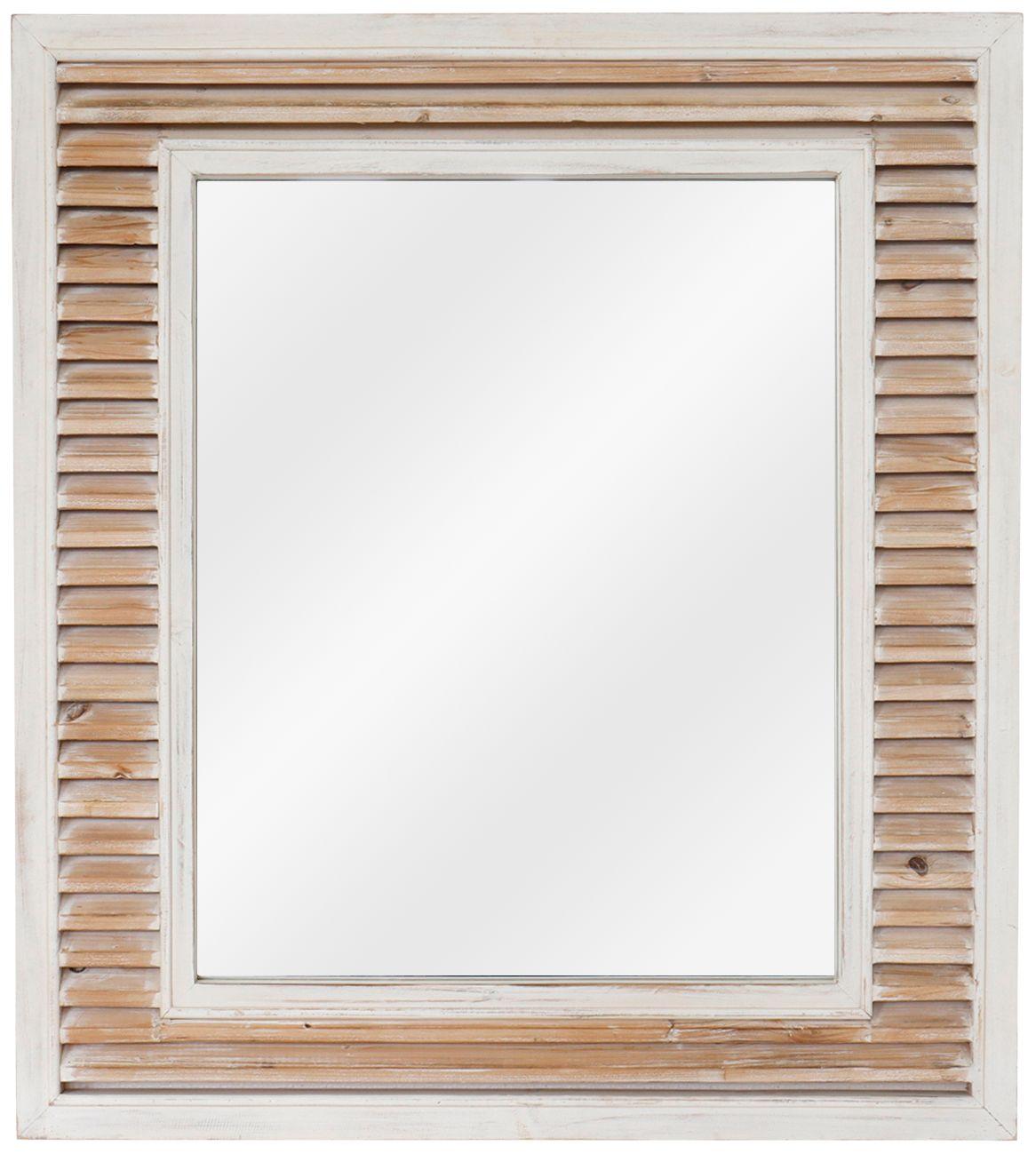 beachy destination natural white 38 x 42 wall mirror