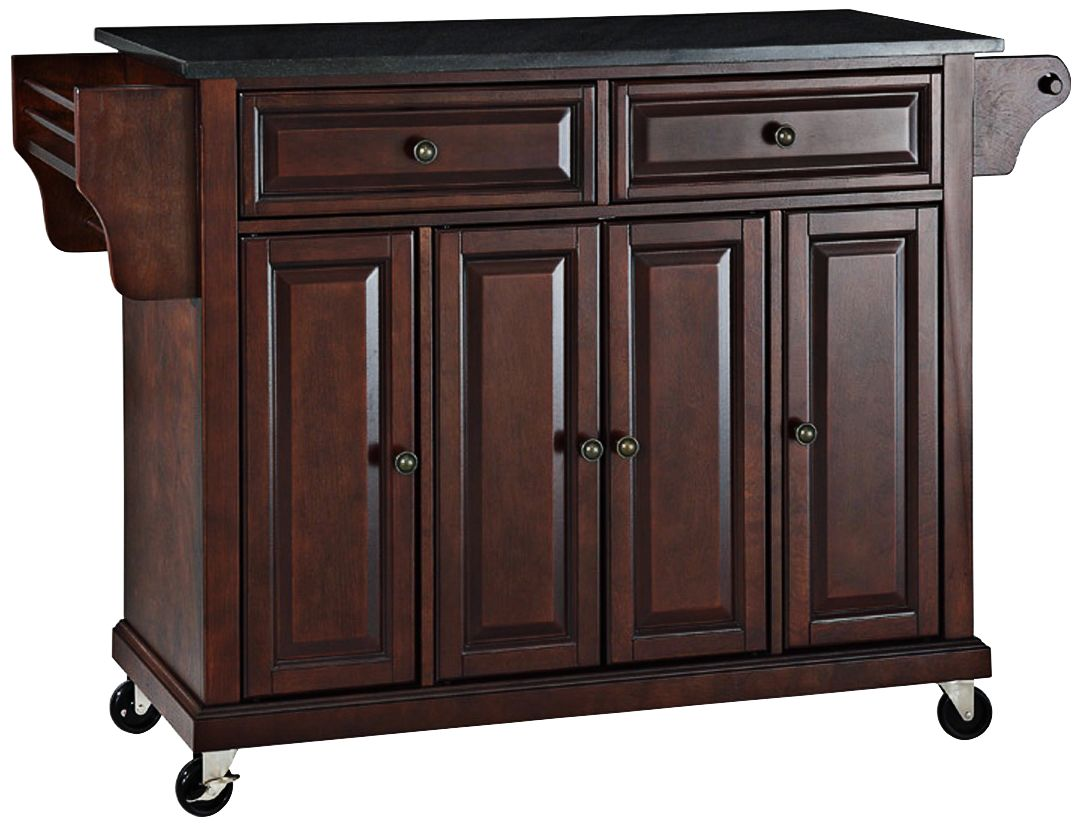 kitchen island carts hotel rooms with kitchens cabinets and storage lamps plus dover black granite top mahogany cart