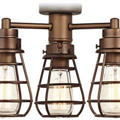 Ceiling Fan Light Kits 1985 Kenworth W900 Wiring Diagrams White Energy Efficient Lamps Plus Bendlin Industrial Oil Rubbed Bronze Kit
