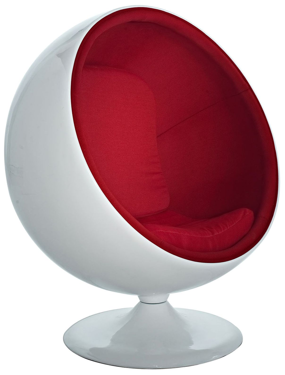 modern ball lounge chair armrest kaddur red fabric 7j847 lamps plus
