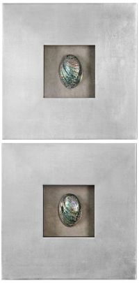 "Uttermost Abalone Shells 20"" Square Wall Art Set of 2 ..."
