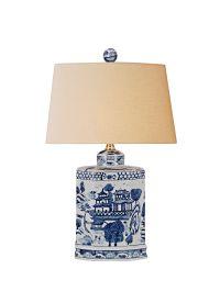 Katanara Blue and White Porcelain Table Lamp - #7N491 ...