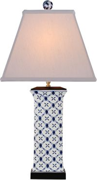 Galway Blue and White Porcelain Table Lamp - #7N496 ...