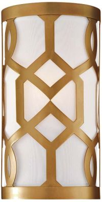 "Crystorama Jennings 12"" High Aged Brass Wall Sconce ..."