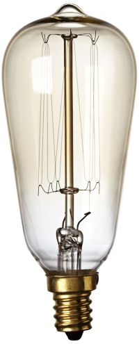 Nostalgic 60 Watt Candelabra Base Edison Style Light Bulb ...