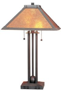 Metal Mica Table Lamp - #82622 | Lamps Plus