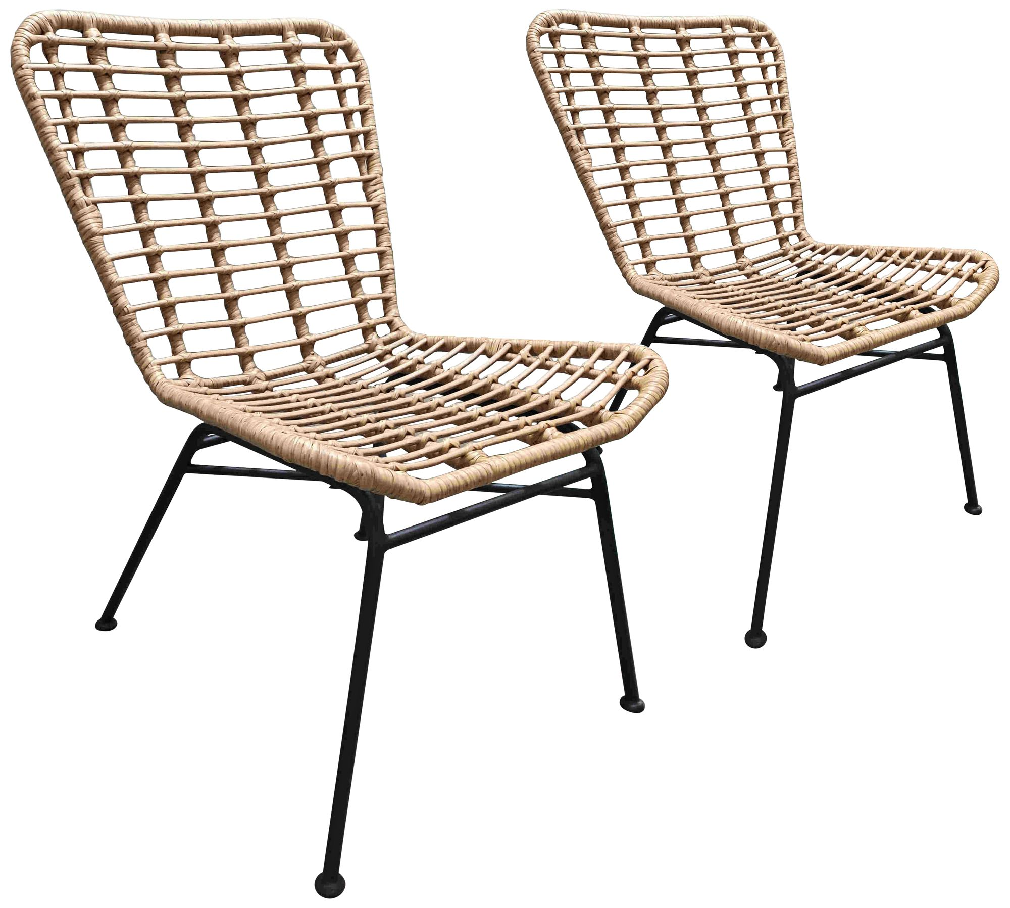 zuo lorena natural woven outdoor chairs set of 2