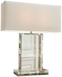 Clear Crystal Slab Rectangular Table Lamp - #8G575 | Lamps ...
