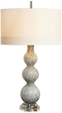 Cloud Light Gray Art Glass Table Lamp - #8G578 | Lamps Plus