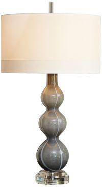 Cloud Dark Gray Art Glass Table Lamp - #8G588 | Lamps Plus