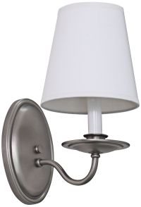 "Lake Shore Curved 11 1/2"" High Satin Pewter Wall Sconce ..."