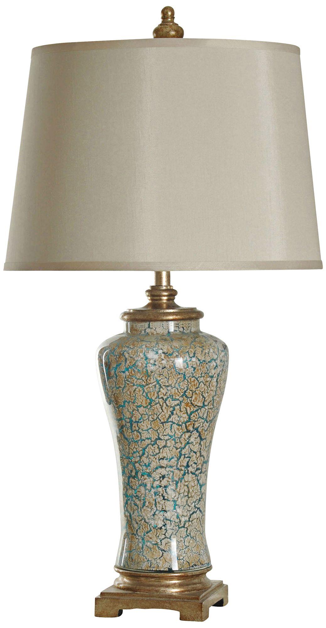 Ginger Caledonia Glass Jar Table Lamp