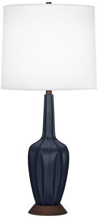 Robert Abbey Cecilia Tall Midnight Blue Table Lamp