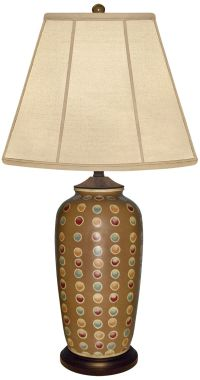 Brookhaven Hand-Painted Mustard Brown Porcelain Table Lamp ...