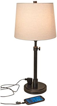 House of Troy Townhouse Bronze Desk Lamp with Outlet ...