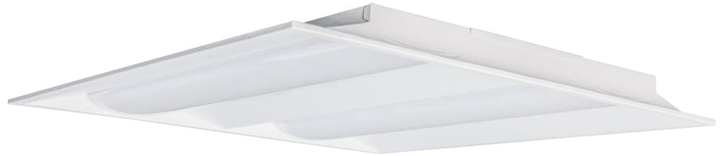 satco 2 x 2 white double basket led recessed troffer light
