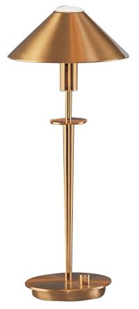 Holtkoetter Brushed Brass Halogen Desk Lamp