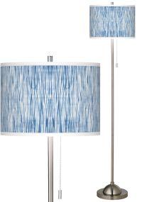 Beachcomb Brushed Nickel Pull Chain Floor Lamp - #99185 ...