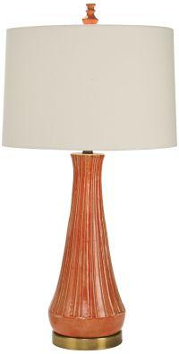 Natural Light Capri Orange Ceramic Table Lamp - #9D163 ...