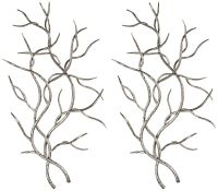 """Uttermost Silver Branches 36 3/4""""H Metal Wall Art Set of 2 ..."""