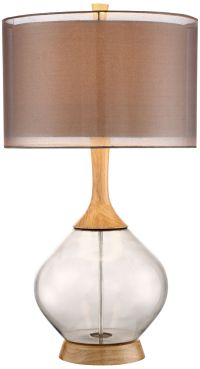 Possini Euro Design Swift Modern Wood and Glass Table Lamp