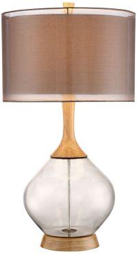 Possini Euro Design Swift Modern Wood and Glass Table Lamp ...
