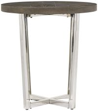 Seville Oak and Bronze Swing Arm Floor Lamp End Table