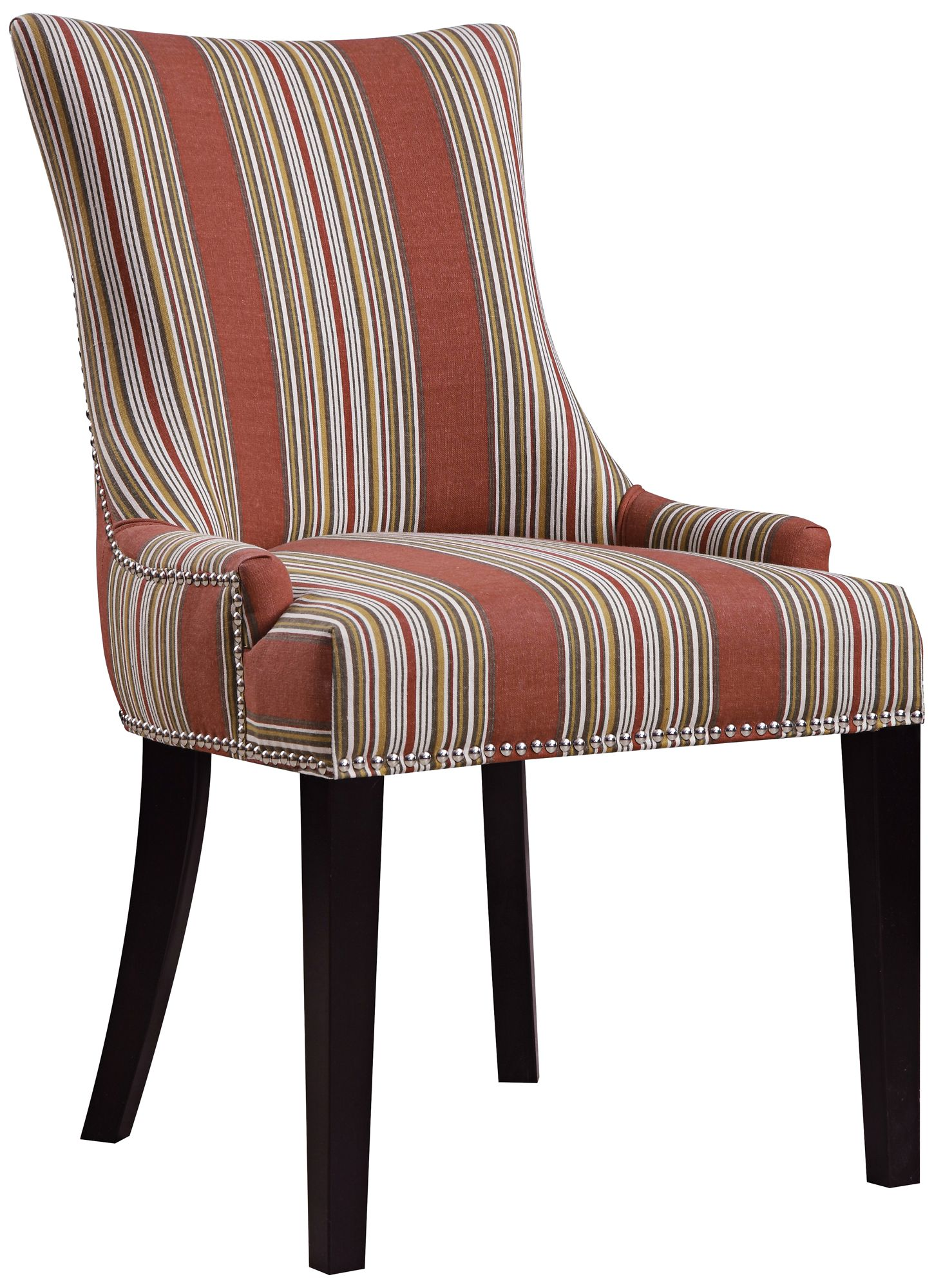 striped dining chair unique chairs for bedrooms oberon bourbon imperial sienna 9k659 lamps plus