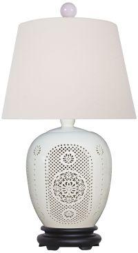 Bone China Lace Porcelain Jug Table Lamp - #9K966   Lamps Plus