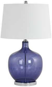 Nina Clear Blue Glass Jug Table Lamp
