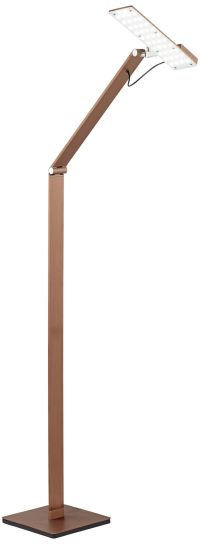Possini Euro Harvard French Bronze LED Task Floor Lamp