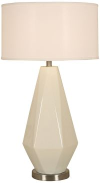 Diamond Crackle Polished Nickel Table Lamp