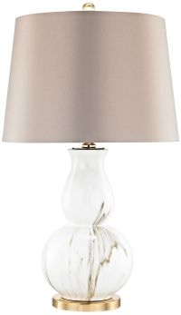 Vicenza White Faux Marble Table Lamp - #9T382 | Lamps Plus