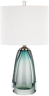 Ms. Aqua Blue Glass Table Lamp - #9T437   Lamps Plus