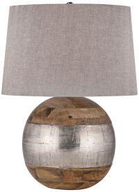 Lauren Mango Wood and German Silver Table Lamp - #9V129 ...