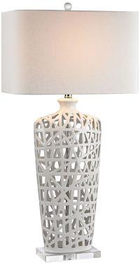 Modern Nest High Gloss White Ceramic Table Lamp - #9V548 ...