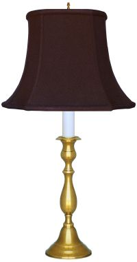 Glastonbury Antique Brass Candlestick Lamp with Black ...
