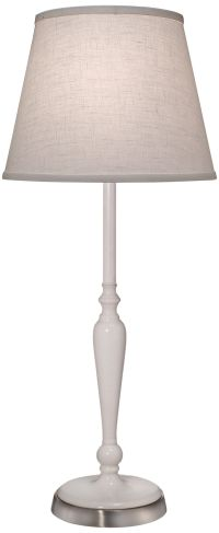 Stiffel Glossy White Metal Buffet Table Lamp - #9Y531 ...