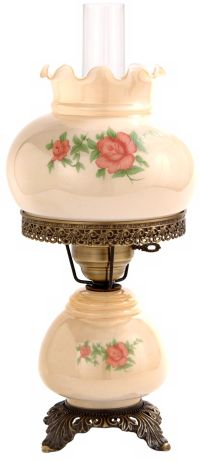 Small Red Rose Night Light Hurricane Table Lamp - #F7966 ...