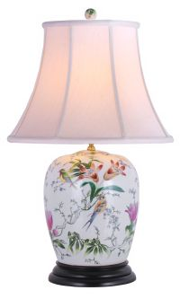 Lily Ginger Jar Porcelain Table Lamp - #G6966 | Lamps Plus