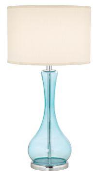 Blue Martini Glass Table Lamp - #H3008 | Lamps Plus