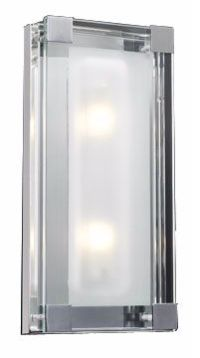 """Nice Cube Frosted Glass 14"""" High ADA Wall Sconce - #H4264 ..."""
