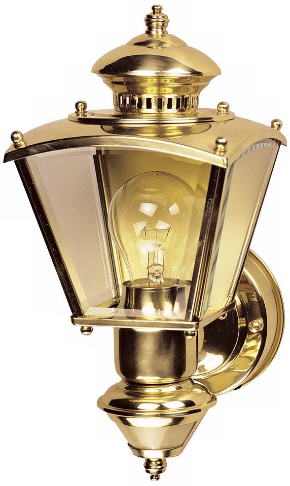 charleston coach polished brass motion sensor outdoor light
