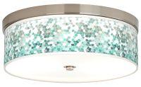 Aqua Mosaic Giclee Energy Efficient Ceiling Light - #H8796 ...