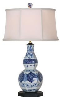 Purple and White Candlestick Base Table Lamp - #U7898 ...