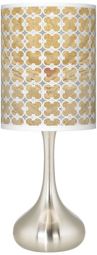 Marble Quatrefoil Giclee Droplet Table Lamp