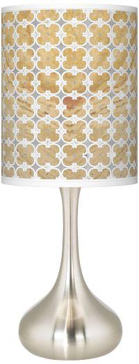 Marble Quatrefoil Giclee Droplet Table Lamp - #K3334-6C966 ...