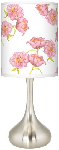 Pretty Peonies Giclee Droplet Table Lamp - #K3334-9M902 ...